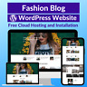 Fashion Blog Business Affiliate Website Store Free Hosting+Installation