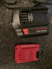 Craftsman V20 Cmcb102 & Cmcb202 2.0Ah 20 Volt Battery & Charger Combo - Tested
