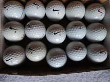 As 15 Nike white golf balls used