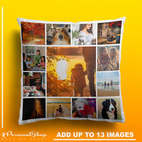 Personalised Photo Pillowcase Cushion Pillow Insert Custom Present Up to 13 Pics