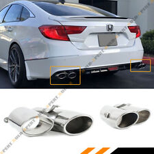 For 18-2020 Honda Accord Sport Touring Akasaka Quad Tip Muffler Exhaust Finisher