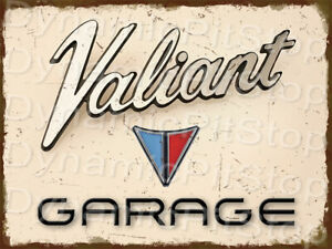 30x40cm Valiant Garage Rustic Tin Sign or Decal, Man Cave, Bar, Garage, Retro