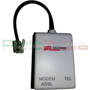 Filtro ADSL RJ11 TELECOM Plus filter presa plug per linea telefono fax internet