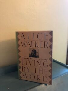 Alice Walker, LIVING BY THE WORD *SIGNED* 1988 HBDJ 1ST/1ST  VG- With Ephemera