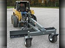 Skid Steer Grader Blade Attachment, 8 Ft Wide, Six Way, Runs on Standard Flow