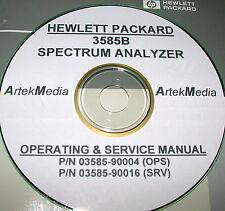 HP 3585B SERVICE & OPERATING  MANUALS (3 VOLUMES)