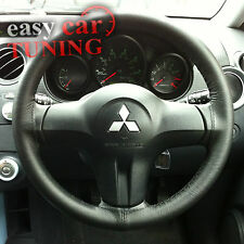FOR MITSUBISHI COLT 02-12 BLACK REAL GENUINE LEATHER STEERING WHEEL COVER