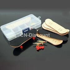 MINI Complete Wooden Fingerboard Finger Skate Board Grit Box Foam Tape Wood