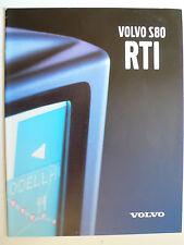 Prospekt volvo s 80 RTI navegador, 1999, 10 páginas