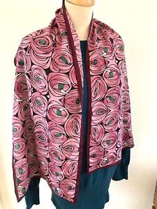 Charles Rennie Mackintosh Rose & Teardrop Silk Scarf