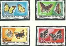 Timbres Papillons Tchad 137/40 * lot 27398
