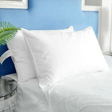 Puredown® 2 Pack White Goose Down Feather Bed Pillows for Side and Back Sleepers