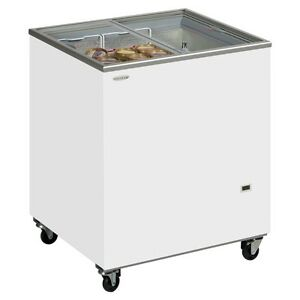 MOBILE BIKE SUITABLE SMALL GLASS LID ICE CREAM FREEZER DISPLAY+ FREE DELIVERY