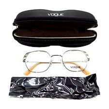 VOGUE VO4131 Womens Full Rim Semi-Oval Metal Eyeglass Frame   Silver   48-20-135