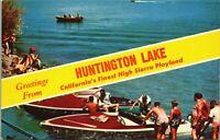 Huntington Lake Boating Fresno County 1960s California Vintage Postcard - Unused