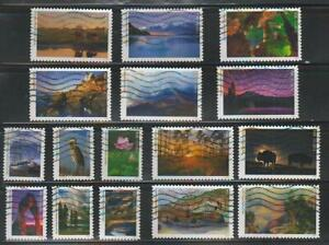 National Parks, 2016, Sc 5080, set of 16, used and off paper