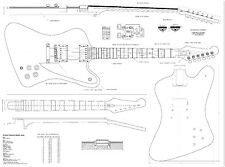 Gibson Firebird Studio    electric  GUITAR PLANS  - Full scale