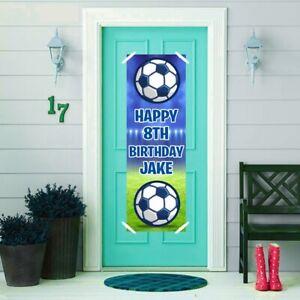 2 Personalised Birthday Banner Football Kids Children Door Decoration Poster