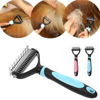 Pet Dog Cat Dematting Grooming Deshedding Trimmer Tools Fur Comb Rake Brush US