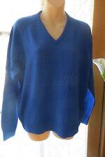 VINTAGE 80'S ~ Royal Blue ~ Vee  JUMPER/TOP * Size 16/18 *