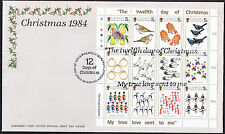 Guernsey Christmas Cover - The Twelve Days of Christmas - Mini-sheet Stamps