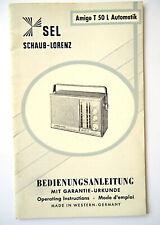 Original Amigo T50L Automatik SCHAUB-LORENZ BEDIENUNGSANLEITUNG 3sprachig