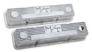 Holley 241-86 M/T Valve Covers for Small Block Chevy Engines � Natural Cast F...
