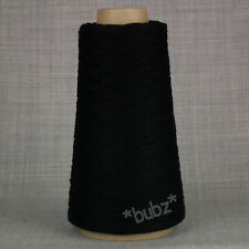 TODD & DUNCAN 2 PLY PURE CASHMERE YARN CONE BLACK 3/28s MACHINE KNITTING LACE