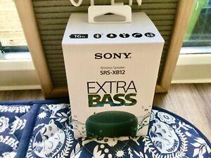 Sony Bluetooth Wireless Speaker Extra Bass SRS-XB12 BLACK New & Sealed Chr