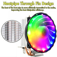 LED RGB CPU Cooler Heatsink for Intel Socket LGA 1155 1156 1155 1366 120mm