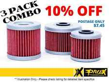 PRO X OIL FILTERS x3 COMBO PACK 54.63655 KTM 400EXC 450SX 450EXC 450SMR 450XC