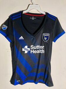 Adidas Women's MLS Jersey San Jose Earthquakes Team Black sz M