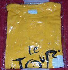 """TEE SHIRT JAUNE """" LE TOUR DE FRANCE """" NEUF JAMAIS PORTE TAILLE S/M"""