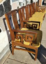 6 Vintage Chinese Asian Yoke Back Scholar Chairs Chinoiserie Style Dining Chairs