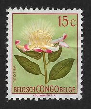 Belgian Congo 1952 - 15c Flowers Protea - SG297 - Mint Hinged (A1)