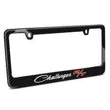 Dodge Challenger R/T Classic Real 3K Black Carbon Fiber License Plate Frame