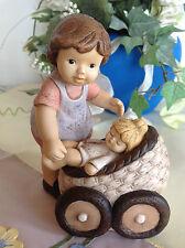 "Goebel Nina & Marco Nina mit Baby Susi im Kinderwagen ""Nina und Susi"" RARITÄT"