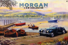 Morgan at the side of the lake. Classic Car Fridge Magnet