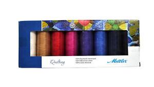 Mettler Silk Finish Cotton 8 Spool Quilting Kit SFCQ89136