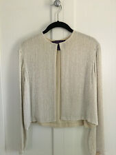 Sequin Jacket - Ralph Lauren Purple Label Designer Vintage - Size 6 - White