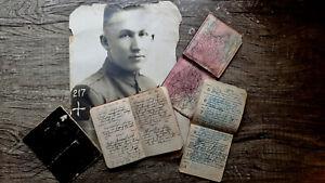 CIRCA 1918-1919 HANDWRITTEN WW I DIARY EXPERIMENTAL TRIPLANE CRASHES PILOT DIES