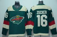 Jason Zucker Minnesota Wild #16 stitched jersey green/white Men's Player Game