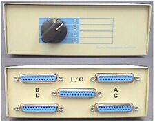 Serial / Parallel Switch Box, 1 to 4 or 4 to 1, DB25 25-way D-type Female Socket