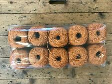 """10 x 50g Ball, """"Rug Wool"""", Fibre Content Unknown, ORANGE, 500g pack"""