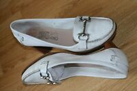 SALVATORE FERRAGAMO -ITALY CLASSIC NEARLY WHITE COURT SHOES UK 5 EU 38 US 7B