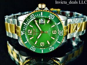 Tresod Mens Ocean Master AUTOMATIC Sapphire Crystal Green Dial 2Tone GP SS Watch