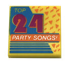 LEGO NEW 2 X 2 YELLOW TILE TOP 24 PARTY SONGS CD RECORD LABEL ALBUM PIECE