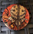 "TRICK OR TREAT ""SAM"" Button Not Pin HORROR Halloween Ratknife Michael Myers RARE"