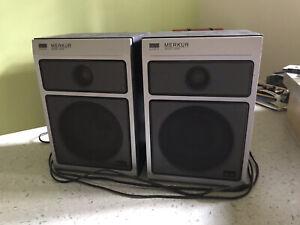 2 RFT Lautspreche Boxen B9151 Merkur HIFI mit Funktion Zweiwegebox
