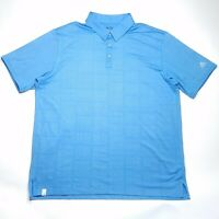 Adidas Golf ClimaCool Light Blue Short Sleeve Polo Shirt Mens Sz Extra Large XL